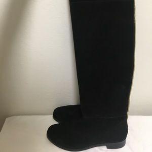 LOLA CRUZ Black Suede Over The Knee Boots, EU 39